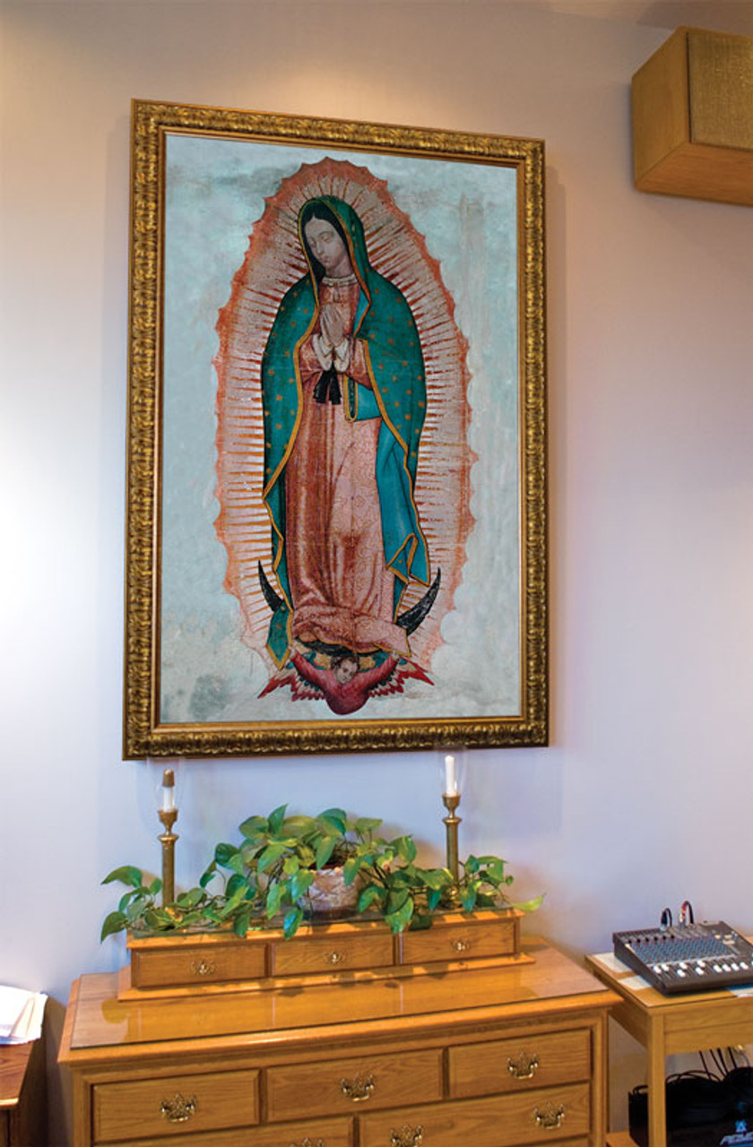 Our Lady Of Guadalupe Church Sized Framed Canvas Art Catholic To