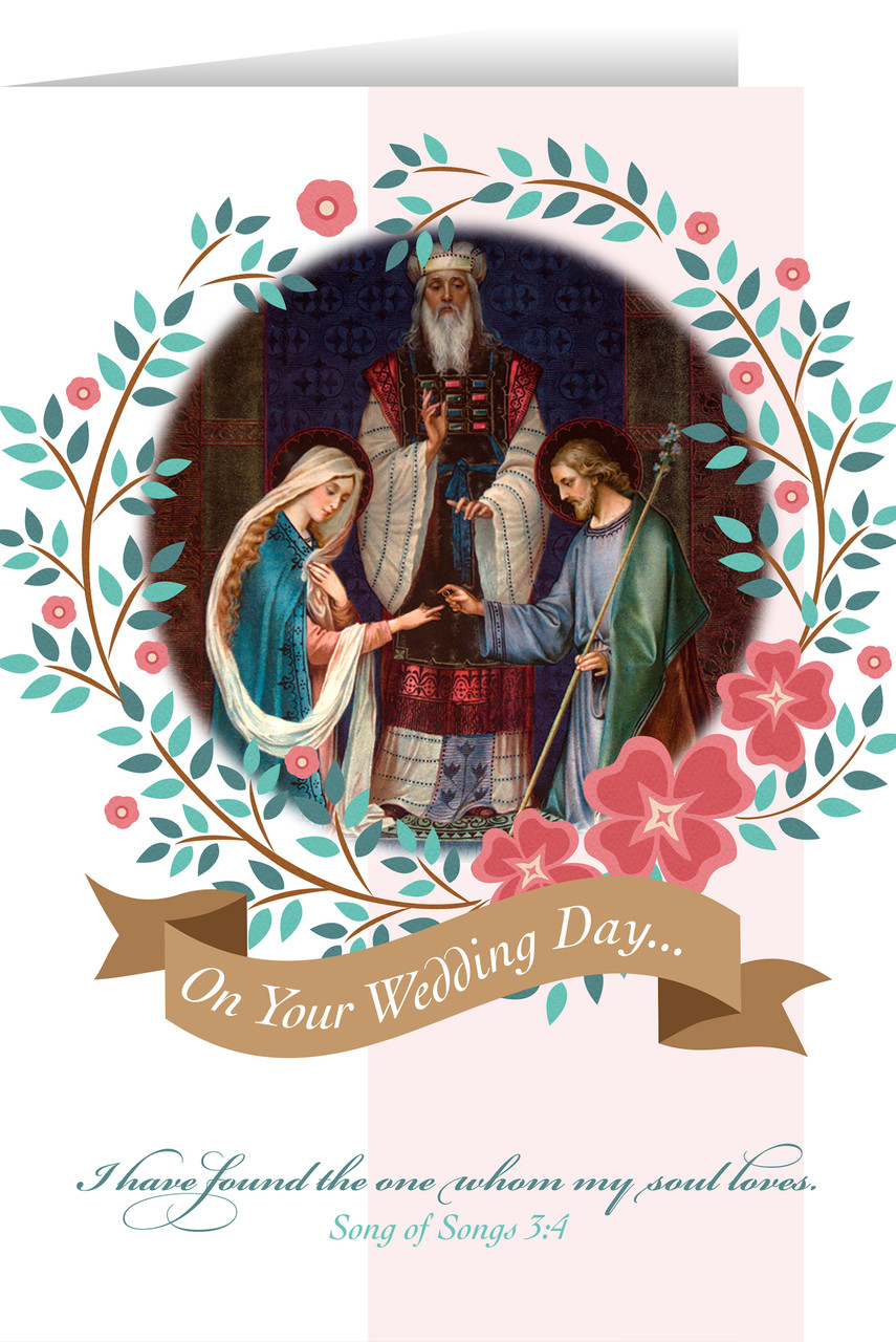 Catholic Christmas Cards.Marriage Of Joseph And Mary Wedding Greeting Card