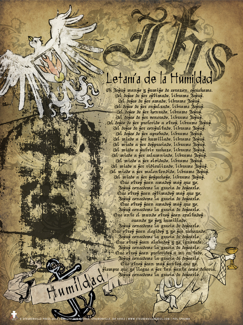 graphic about Litany of Humility Printable identify Spanish Lit. of Humility Poster
