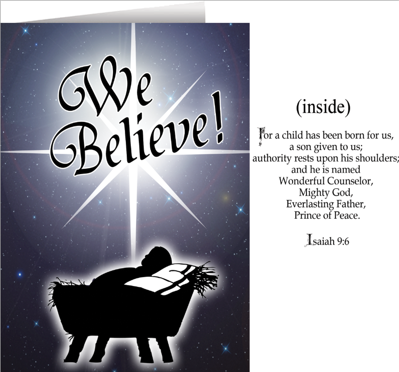We Believe Greeting Christmas Cards - Box of 25 - Catholic to the ...