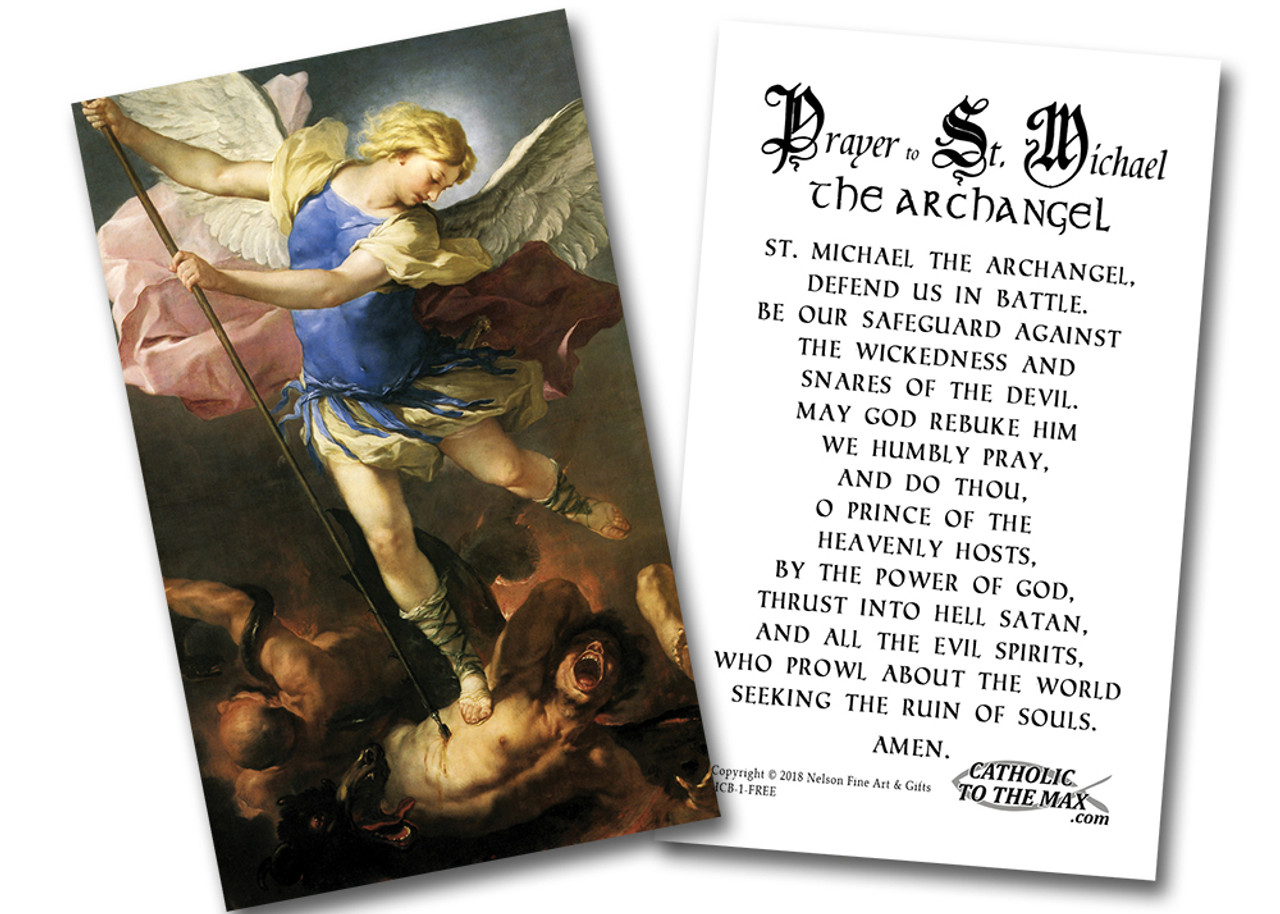 graphic about Printable Prayer to St. Joseph called No cost Saint Michael the Archangel Holy Playing cards (pack of 50)
