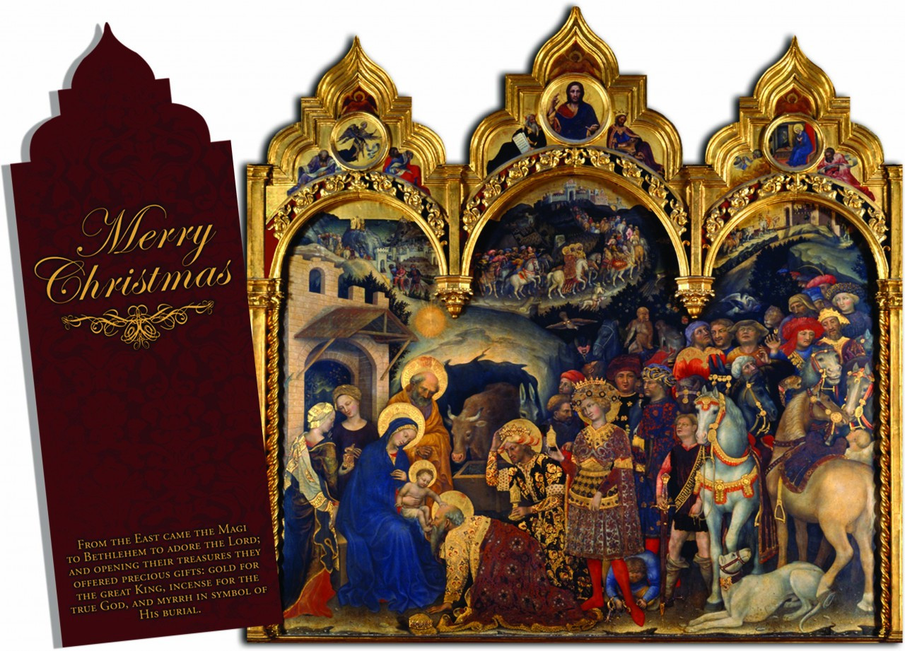 Artworks Christmas Cards.Merry Christmas Tri Fold Christmas Cards