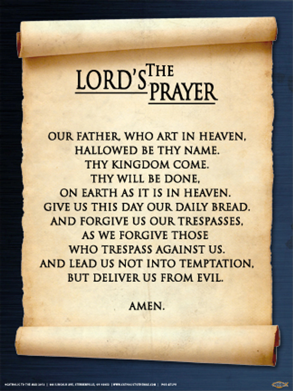 image about Printable Copy of the Lord's Prayer named The Lords Prayer Poster