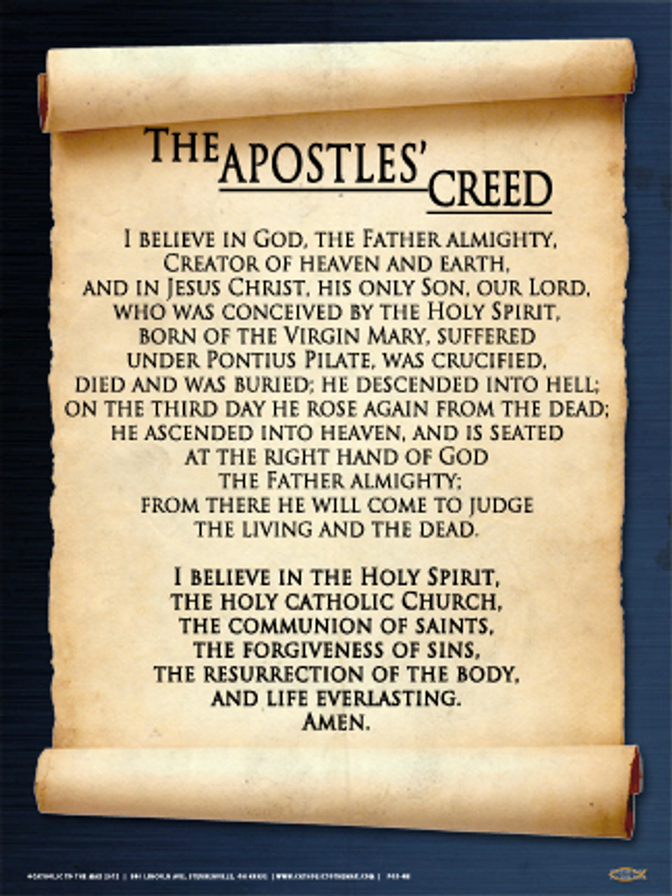 Apostles Creed Poster Catholic To The Max Online