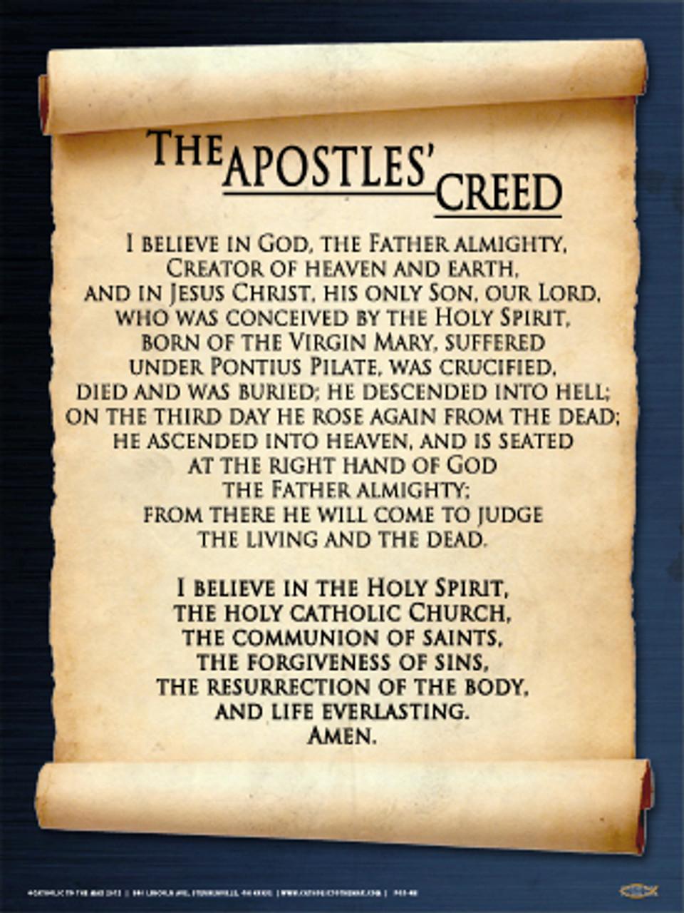This is a graphic of Gargantuan Printable Apostles Creed