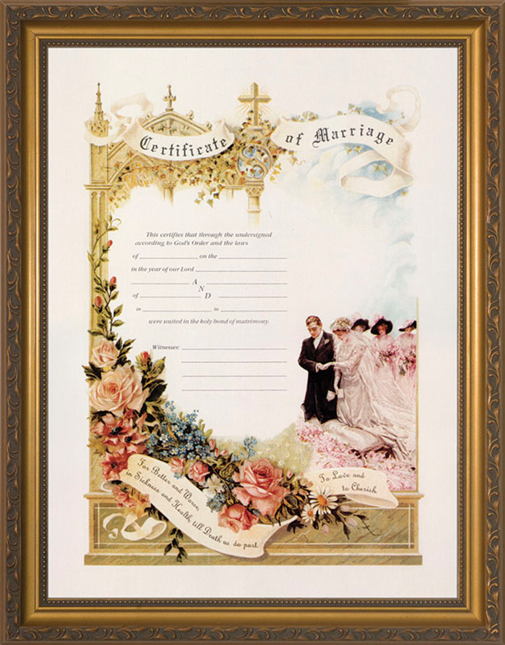 Certificate of Marriage Gold Framed - Catholic to the Max - Online ...