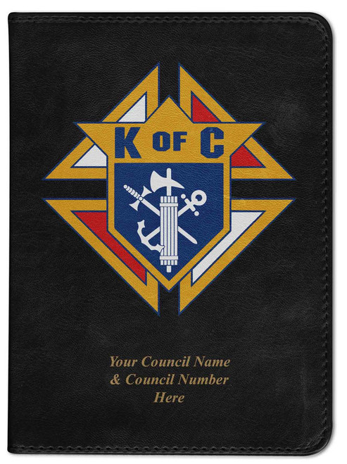 Personalized Catholic Bible with Knights of Columbus Cover - Black NABRE