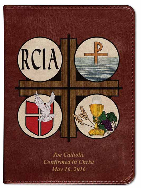 Personalized Catholic Bible with RCIA Cover - Burgundy RSVCE