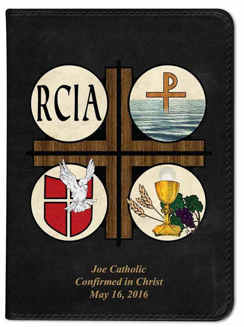 Personalized Catholic Bible with RCIA Cover - Black NABRE