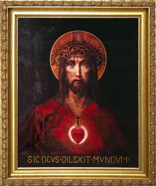 For God So Loved The World - Gold Framed Art