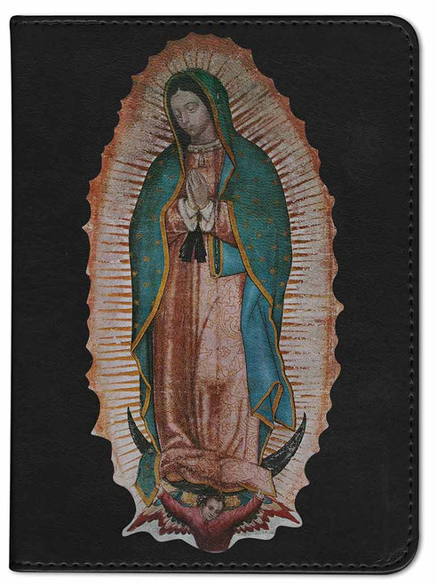 Personalized Catholic Bible with Our Lady of Guadalupe Cover - Black RSVCE