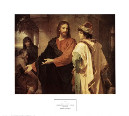 CLEARANCE Christ and the Rich Young Ruler: Fine Art Print
