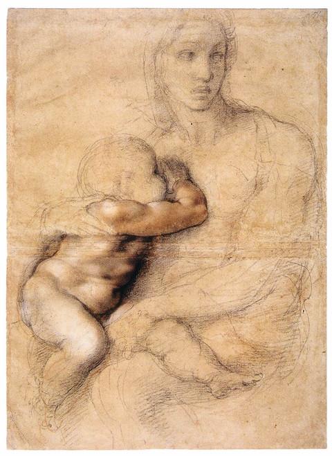 Madonna and Child by Michelangelo: Fine Art Print