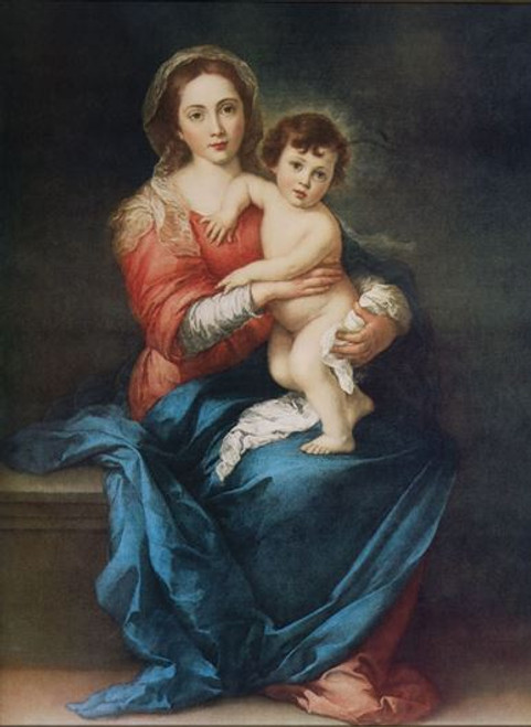 Madonna with Child by Murillo Print