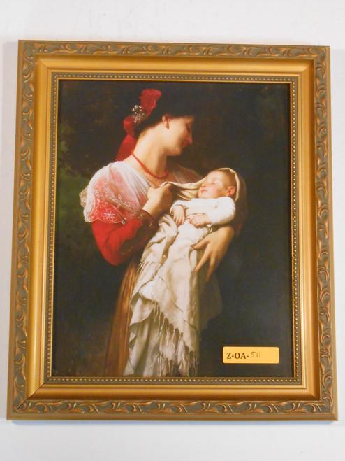 Maternal Admiration 8x10 Golden Framed Print