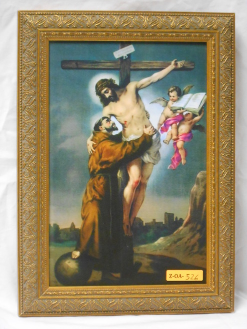 St. Francis with Christ 8x12 Framed Print
