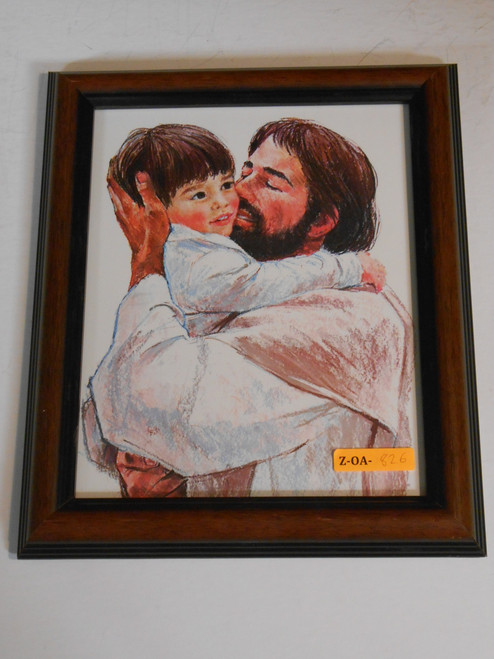 Jesus and Child 7x9 Framed Print