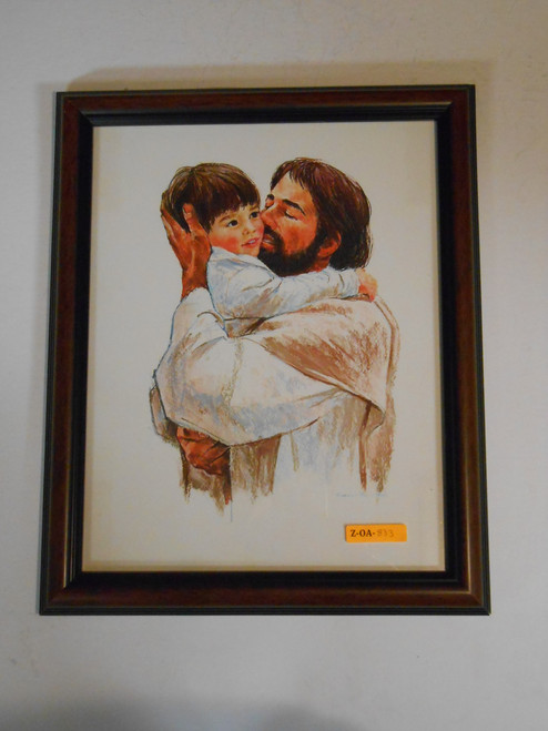 Jesus and Child 11x14 Framed Print