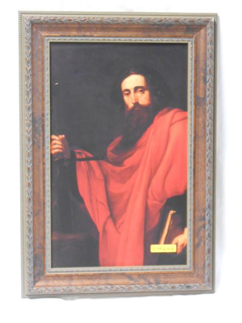 De Saint Paul by Ribera 9x15 Ornate Framed Print
