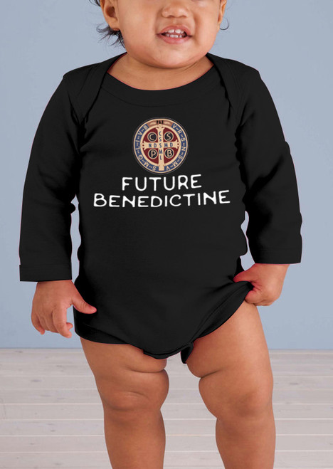 Future Benedictine Long-Sleeve Baby Onesie