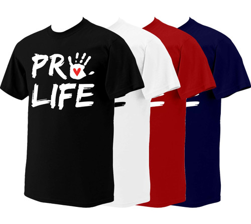 Pro-Life with Handprint T-Shirt