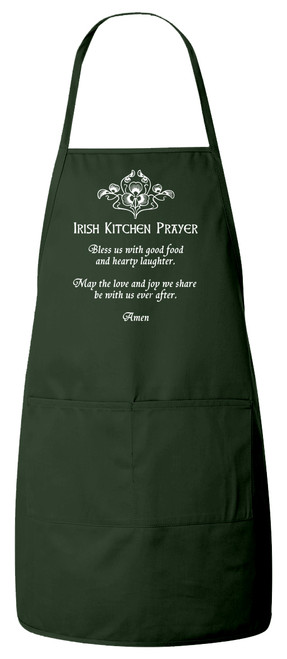 Irish Kitchen Prayer Apron (Green)