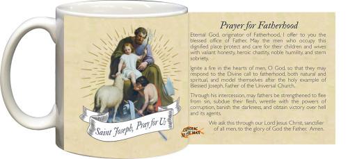 St. Joseph Guardian of Sons Prayer for Fatherhood Mug