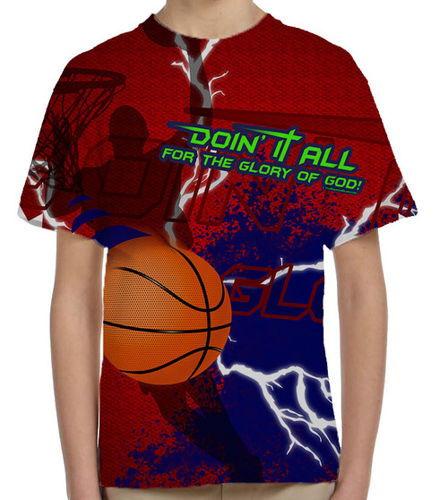 """""""Doing It All"""" Basketball Graphic Children's Poly T-Shirt"""