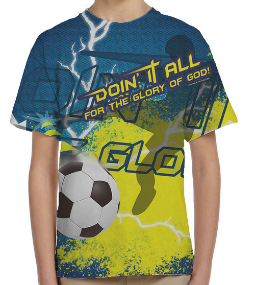 """""""Doing It All"""" Soccer Graphic Children's Poly T-Shirt"""