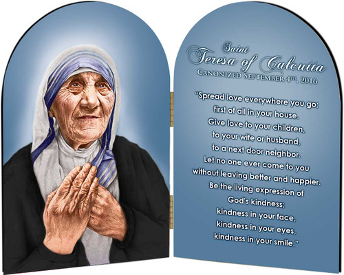 St. Teresa of Calcutta Arched Quote Diptych