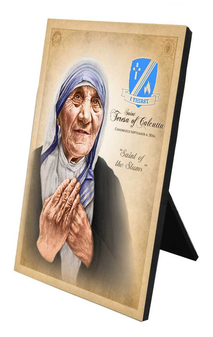 Commemorative St. Teresa of Calcutta Desk Plaque