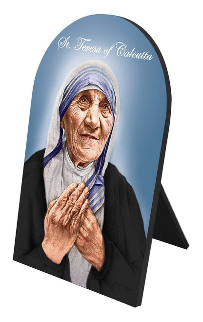 St. Teresa of Calcutta Arched Desk Plaque