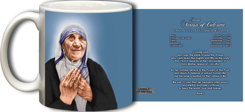 St. Teresa of Calcutta Canonization Prayer Mug