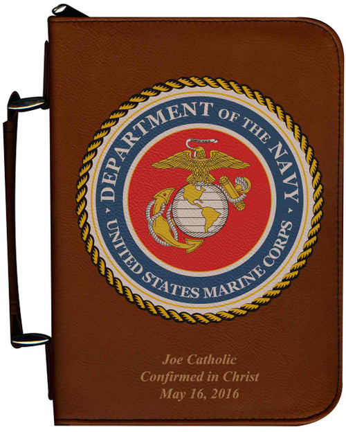 Personalized Bible Cover with Marine Graphic - Tawny