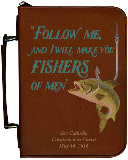 Personalized Fisherman's Bible Cover Graphic - Tawny