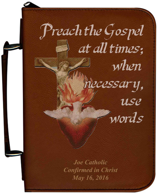 Personalized Bible Cover with Missionary Graphic - Tawny