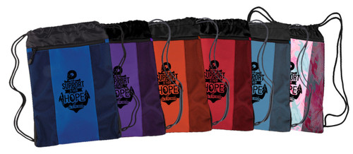 """""""Our Support is Their Hope"""" Drawstring Cinch Backpack"""