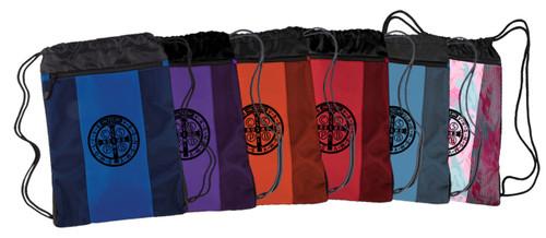 Benedictine Medal Drawstring Cinch Backpack