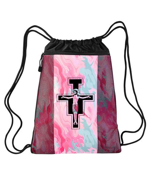 San Damiano Drawstring Cinch Backpack