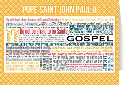Pope Saint John Paul II Quote Card