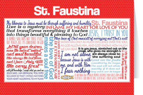 Saint Faustina Quote Card