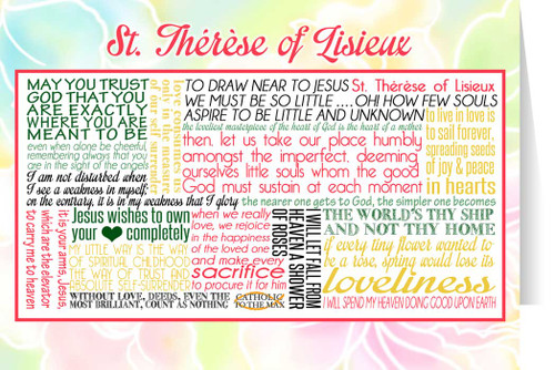 Saint Therese of Lisieux Quote Card