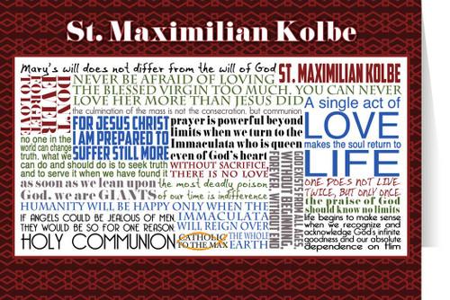 Saint Maximilian Kolbe Quote Card
