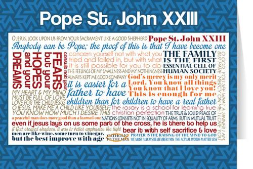 Pope Saint John XXIII Quote Card