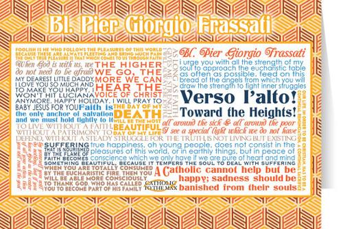 Blessed Pier Giorgio Frassati Quote Card