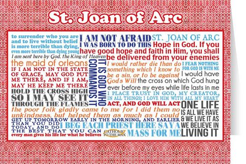 Saint Joan of Arc Quote Card