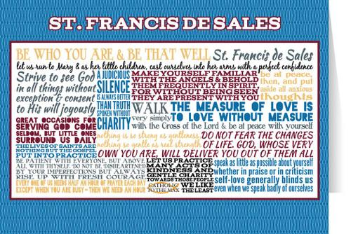 Saint Francis de Sales Quote Card