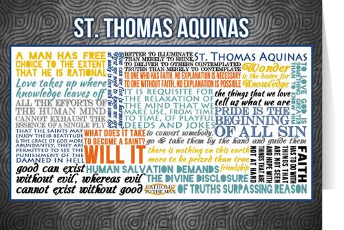 Saint Thomas Aquinas Quote Card