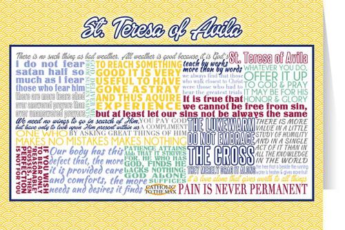 Saint Teresa of Avila Quote Card