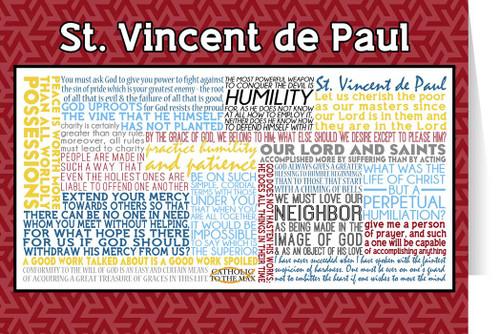 Saint Vincent de Paul Quote Card